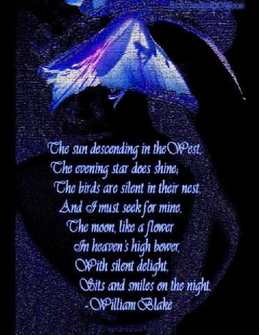 """William Blake """"I must seek for mine"""""""